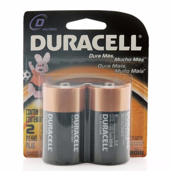 Pilha Duracell Grande D 1,5 V 4 Cartelas Com 2 Unidades