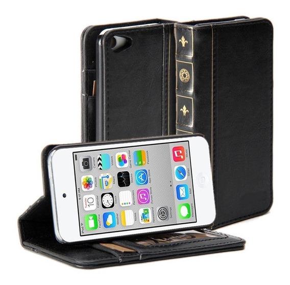 Carteira Capa Case Protetor Preto iPod Touch 5 E 6