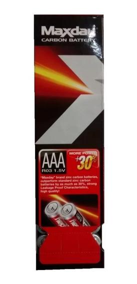 Kit 60 Pilhas Palito De Carbono Aaa 1.5v