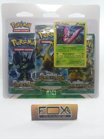 Brin Pokemon Xy10 Blister Triplo Fusao De Destino (vivillon)