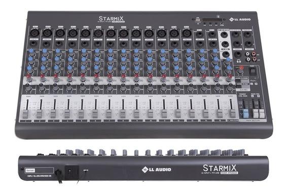 Mesa De Som Analógica Lláudio Starmix Xms1602d 16 Canais