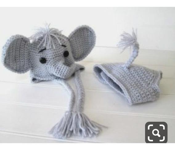 Conjunto De Elefante De Croche Newborn