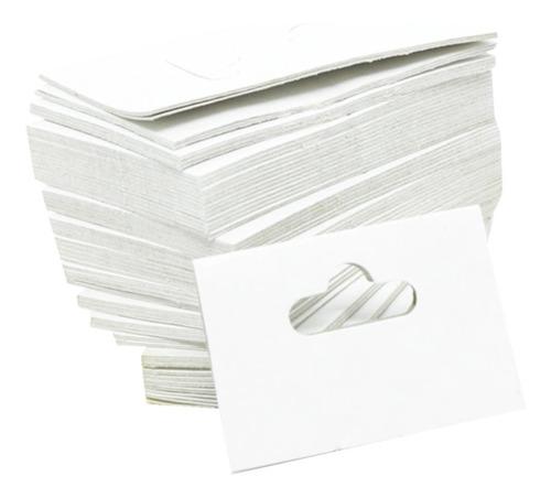 1000 Solapas De Papel Branca Para Joias 6 X 4 Cm