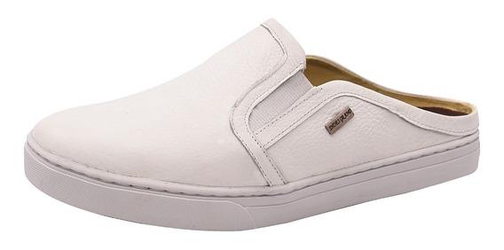 Sapatênis Mule Slip On Iate Luxo Masculino Em Couro 166 Shoe