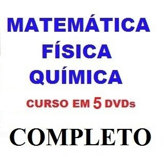Aulas De Matemática + Física + Química Curso Em 5 Dvds N1c