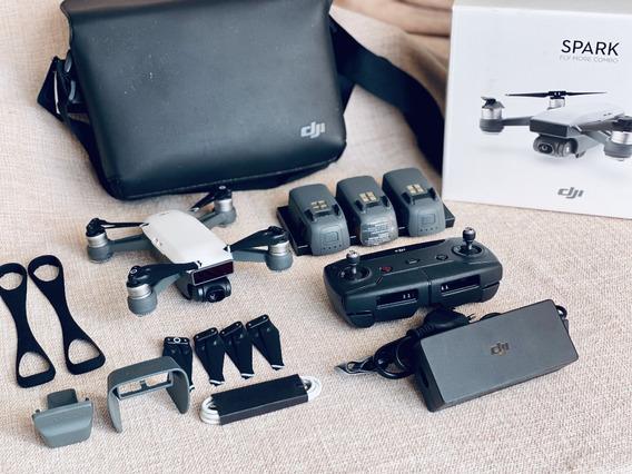 Drone Dji Spark Fly More Combo + Acessorios Extras Sem Queda