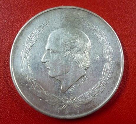 Mexico Moneda De Plata Miguel Hidalgo 5 Pesos 1951