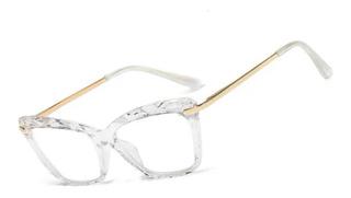 Óculos De Grau Armação Gatinho Acrilico