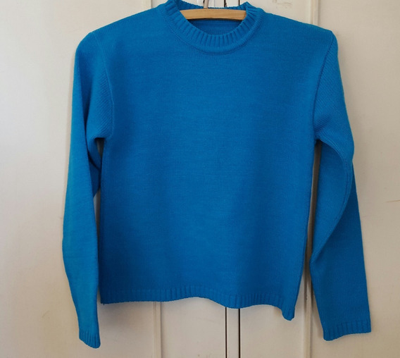 Sweater Lana Color Turquesa Talle 14