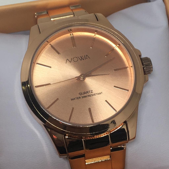 Relógio Nowa Feminino Nw4014k Rose Original