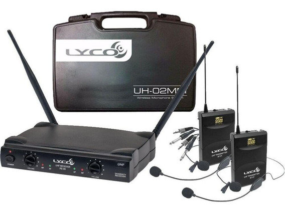 Microfone Lyco Uh 02 Hli Hli Headset Lapela Instrumento