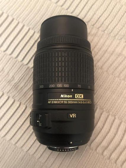 Lente Nikon Af-s 55-300mm F/4 5-5.6g Ed Vr