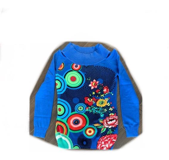 Suéter Desigual Mujer Azul Rey
