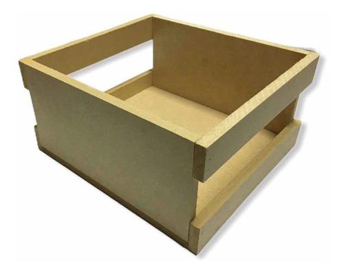 Caja De Madera 20x20x10 Para Anchetas Y Desayunos Sorpresa