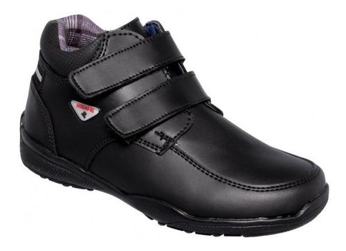 Zapato Escolar De Niño Simipiel Negro-mod.9200ro2122261