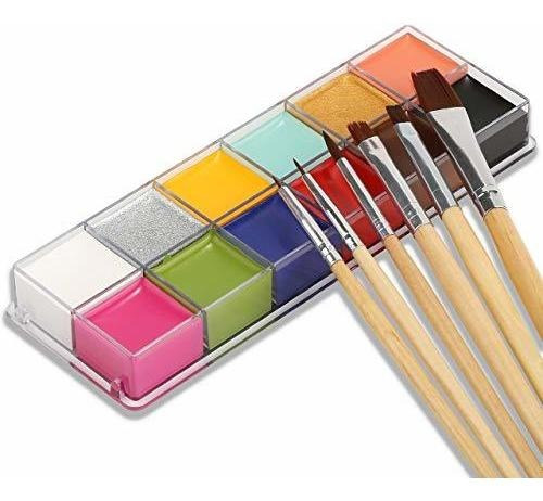 Imagen 1 de 7 de Aceite De Pintura Para Cara 12 Colores Pintura Artistica Fie