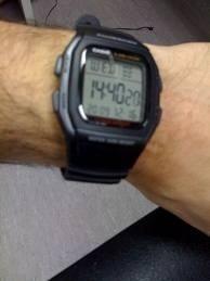 Relogio Casio W-96h Alar Crono 50m W96 Preto Db36