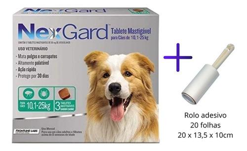 Antipulgas Para Cachorro Nexgard Para 10 A 25 Kg 3 Tabletes