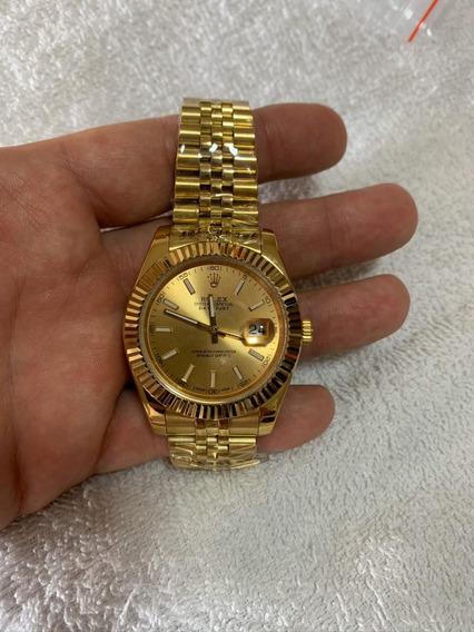 Relógio Feminino De Luxo Dourado 36mm
