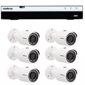 Kit 6 Câmeras Segurança Alta Definição Intelbras Dvr 3108 Tf