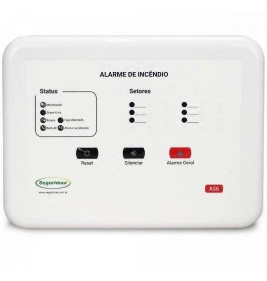 Central De Alarme De Incêndio 6 Setores 12v C/ Bateria Segur