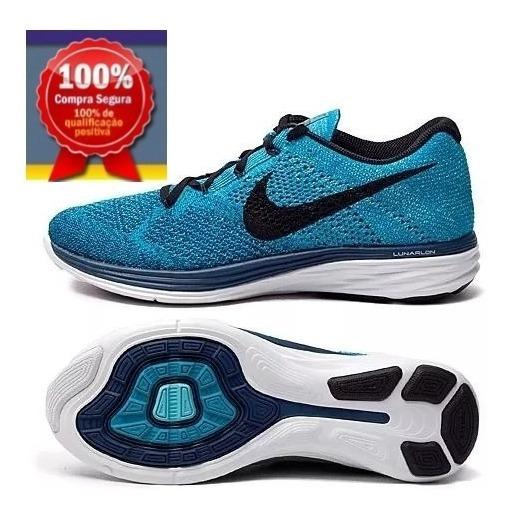 Tênis Nike Flyknit Lunar 3 - Tam: 40 Cor: Azul