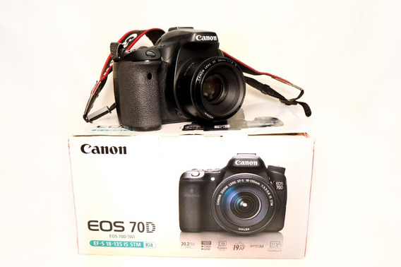 Câmera Canon 70d + Lente