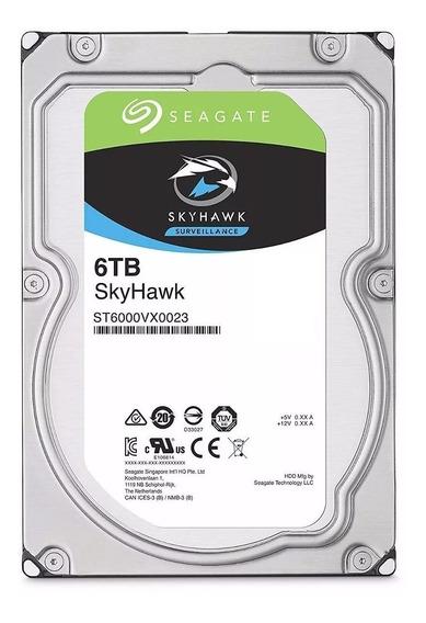 Hd Seagate Sata 6tb 256mb 7200rpm Skyhawk 6gb/s Cft Dvr