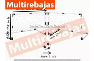 Cancha De Fútbol Con Pelota E Inflador Muy Comoda
