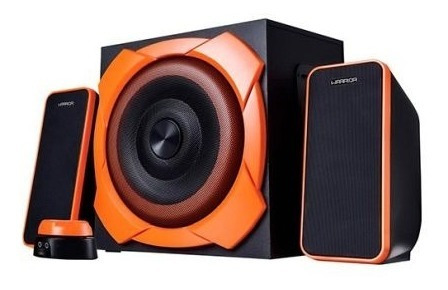 Caixa De Som Gamer Pc 2.1 Warrior P2 50w Rms Sp266 Subwoofer