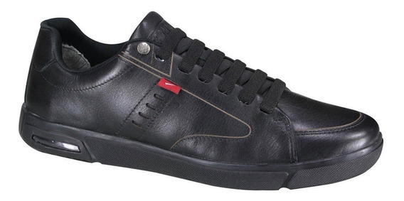Zapatilla Ferracini Max Float Cuero Negro Talles Especiales