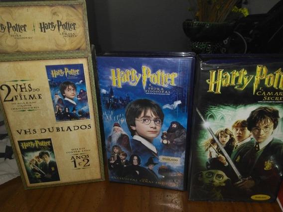 Harry Potter Duas Fitas Em Vhs,com Caixa Box Comemorativa