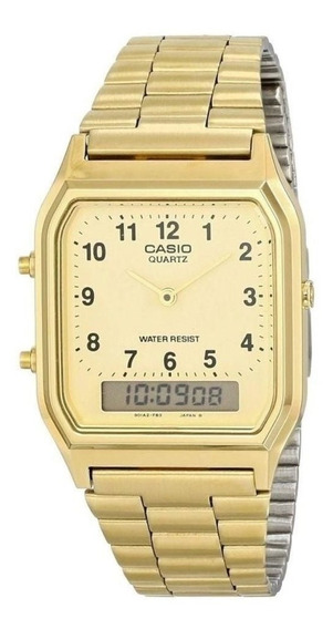 Relógio Casio Feminino Aq-230ga-9bqm 1 Ano De Garantia + Nf