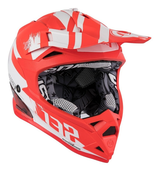Casco Just1 J32 Pro Kick White Red Tienda Oficial