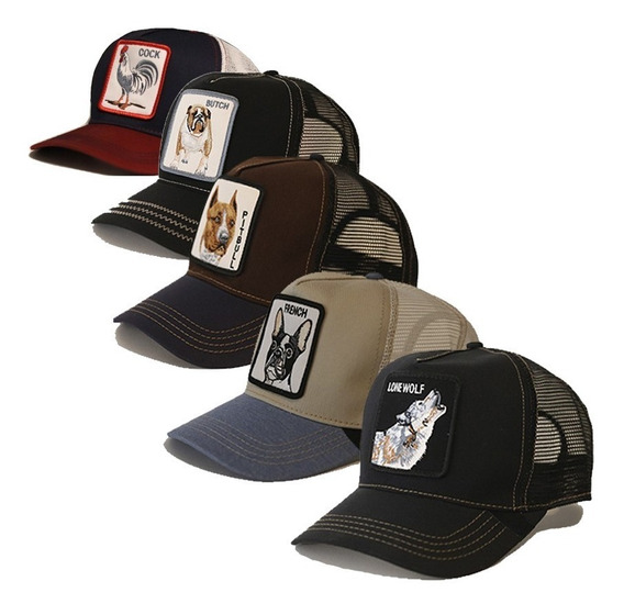 Gorra Animales Moda Lobo Gallo Bulldog Grizzly Messi