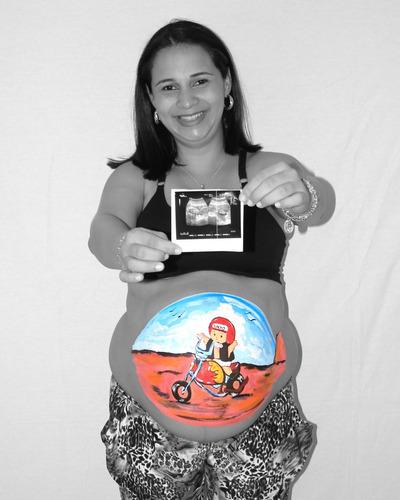 Body Paint Sesión Fotográfica Para Embarazadas