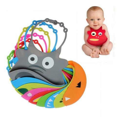 ¡ Babero De Silicona Animal Baby Bib Divertido Estampado !!