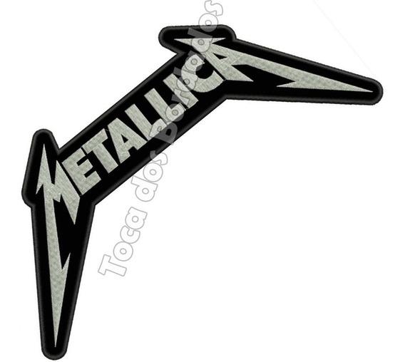Patch Bordado Musica Banda Metallica Grande 14x32cm Ban344