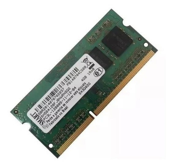 Memoria Smart 4gb Ddr3 Pc3l-12800s P/ Notebook - Nova
