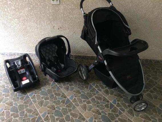 Carrinho De Bebê + Bebê Conforto Para Carro Britax