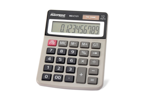 Calculadora Eletrônica De Mesa 12 Dígitos Mx-c121 Maxprint
