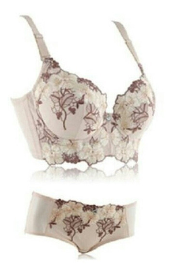 Brasier Push Up Y Panty Moda Asatica Lenceria Coreana Bordad