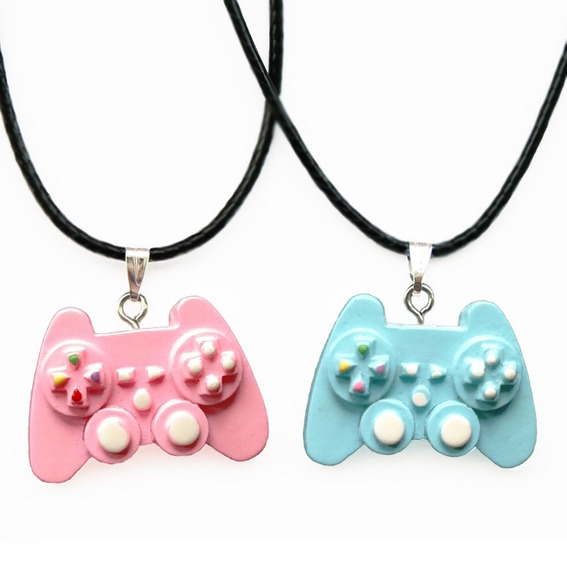 2 Collar Control Videojuegos Novios Pareja Amigos Kawaii