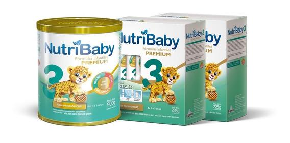 Combo Nutribaby 3 Leche 1 A 3 Años Lata X 900g + 2 Estuches