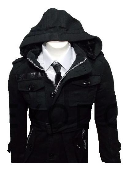 Abrigo Hombre 9901, Negro, Exclusivo Importado, Envío Gratis