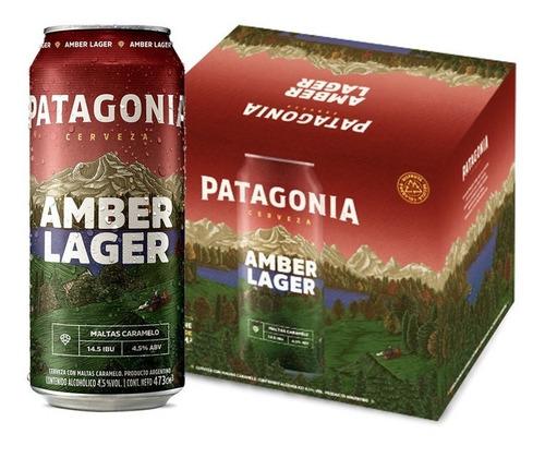 Imagen 1 de 1 de Cerveza Patagonia Amber Lager 473ml Pack X6 Latas