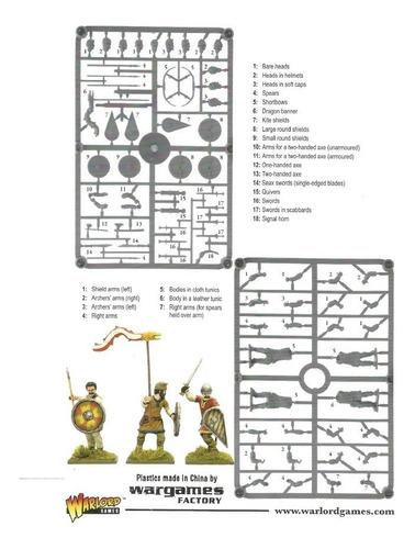 Imagem 1 de 5 de Cartela 8 Miniaturas Saxões Ceorl Hail Caesar Warlord Games