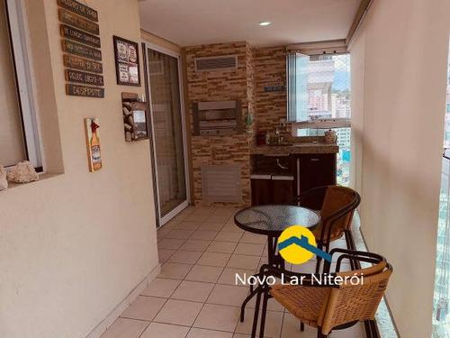 Imagem 1 de 15 de Apartamento  Todo Montado Varanda Gourmet , 3 Suítes E 2 Vagas. - 112