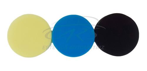 Imagen 1 de 5 de Kit X 3 Pads 3 Pulgadas Corte Pulido Acabado 3 Pasos
