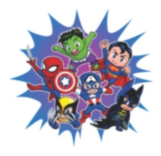 Imagem Png Estampa Super Herois Kids - Em Alta Resolução